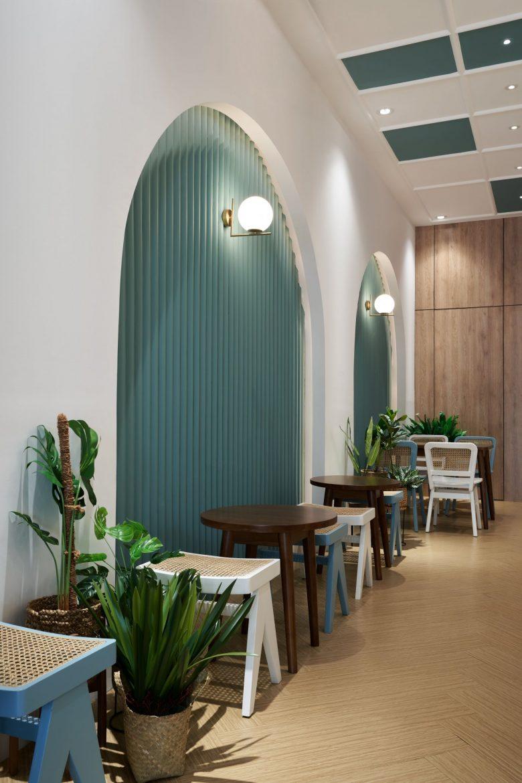 """""""Tô xanh"""" thiết kế nhà hàng phong cách nhiệt đới to diem khong gian nha hang phong cach nhiet doi 5"""